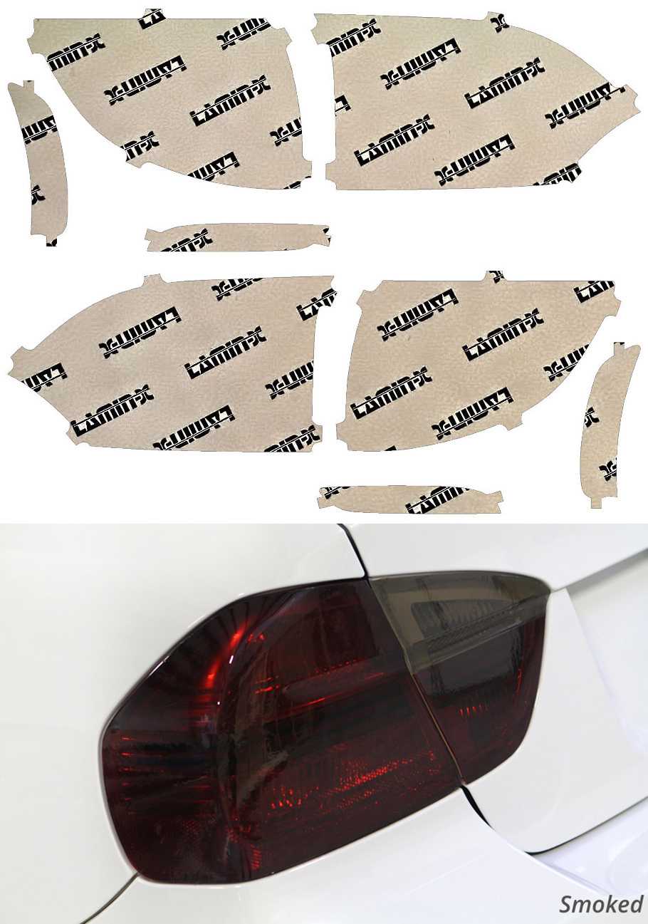 Chrysler Pacifica 17-19 Smoked Tail Light Covers Lamin-X C218S