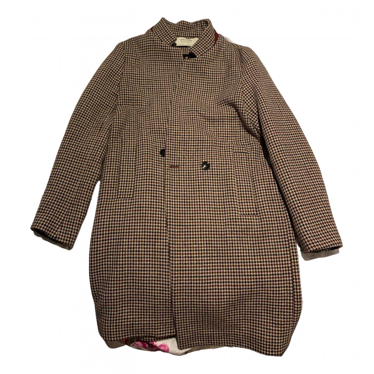 Zara - Veste   pour femme en laine - bordeaux
