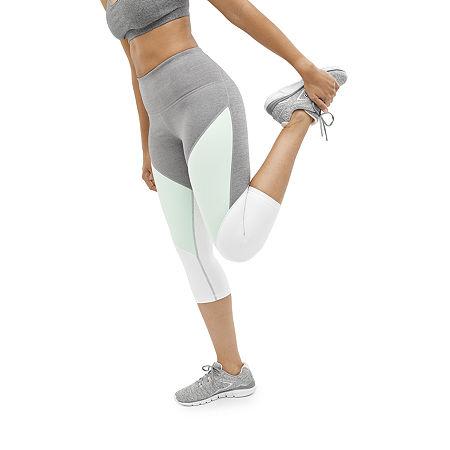 Xersion Move High Rise Workout Capris, Petite Xx-large , Gray