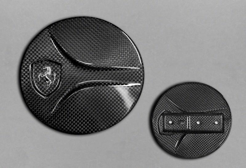 Capristo Exhaust 03FE08710005LM Matte Carbon Gas Cap Ferrari 488 GTB | GTS 15-20