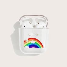 Airpods Schutzhuelle mit Regenbogen Muster