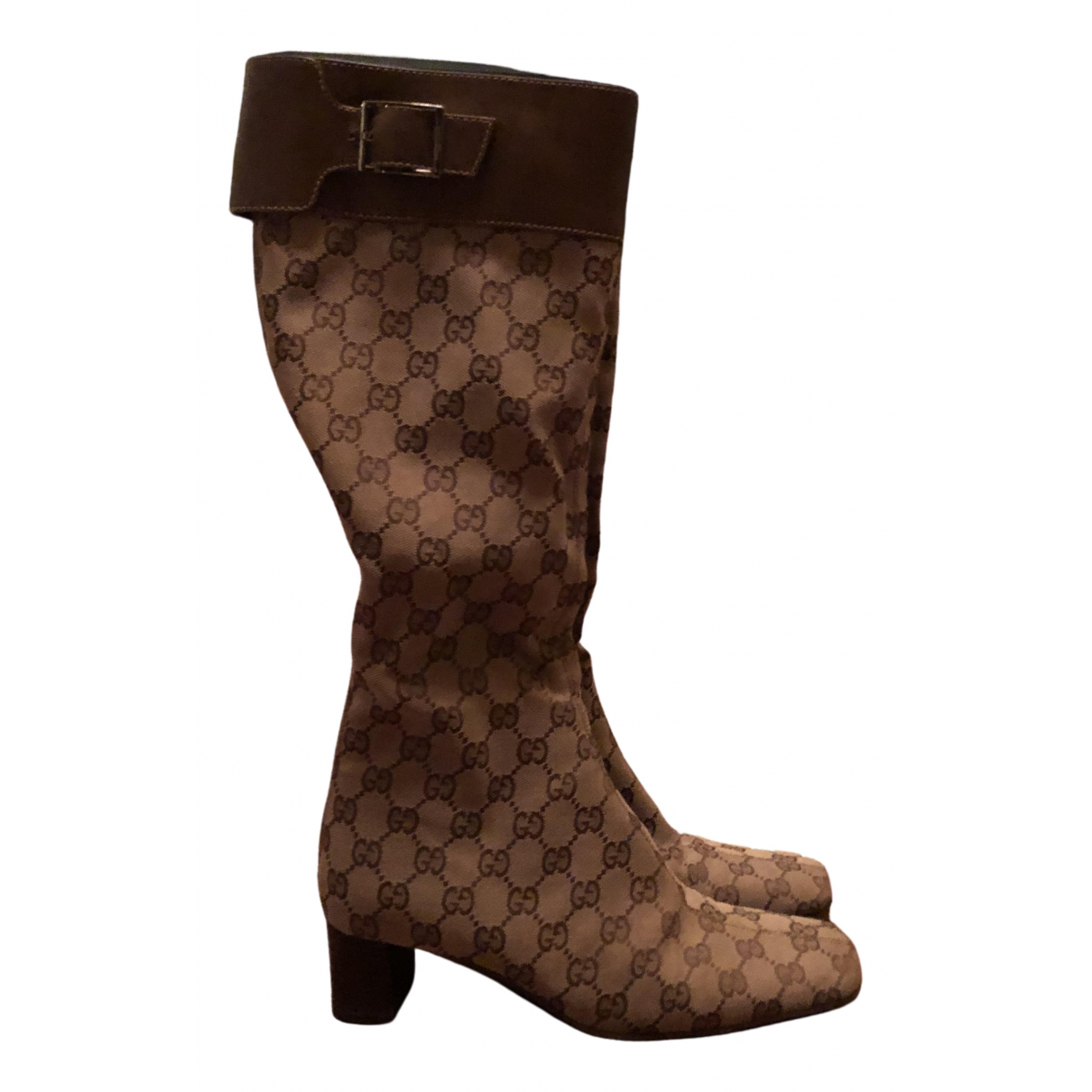 Gucci \N Beige Cloth Boots for Women 38.5 IT