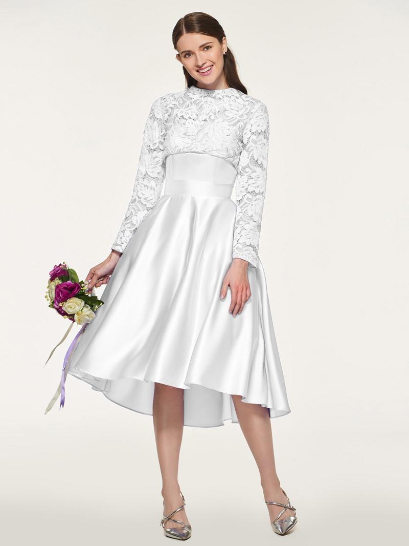 Ericdress Long Sleeves High Low Bridesmaid Dress