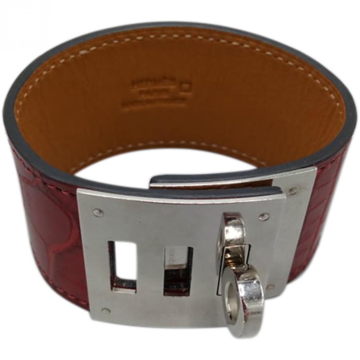 Hermès Kelly Purple Crocodile bracelet for Women \N