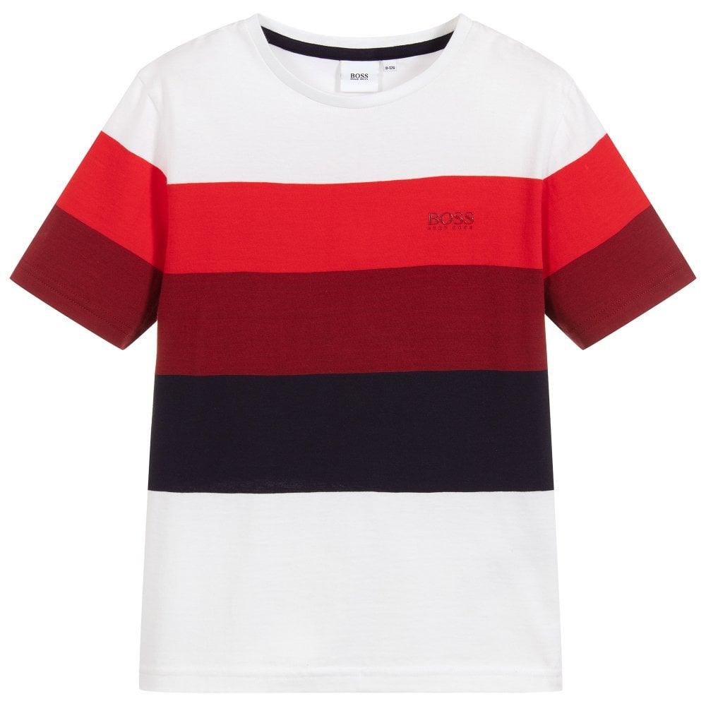 Hugo Boss Kids Short Sleeve t-shirt Colour: WHITE, Size: 16 YEARS