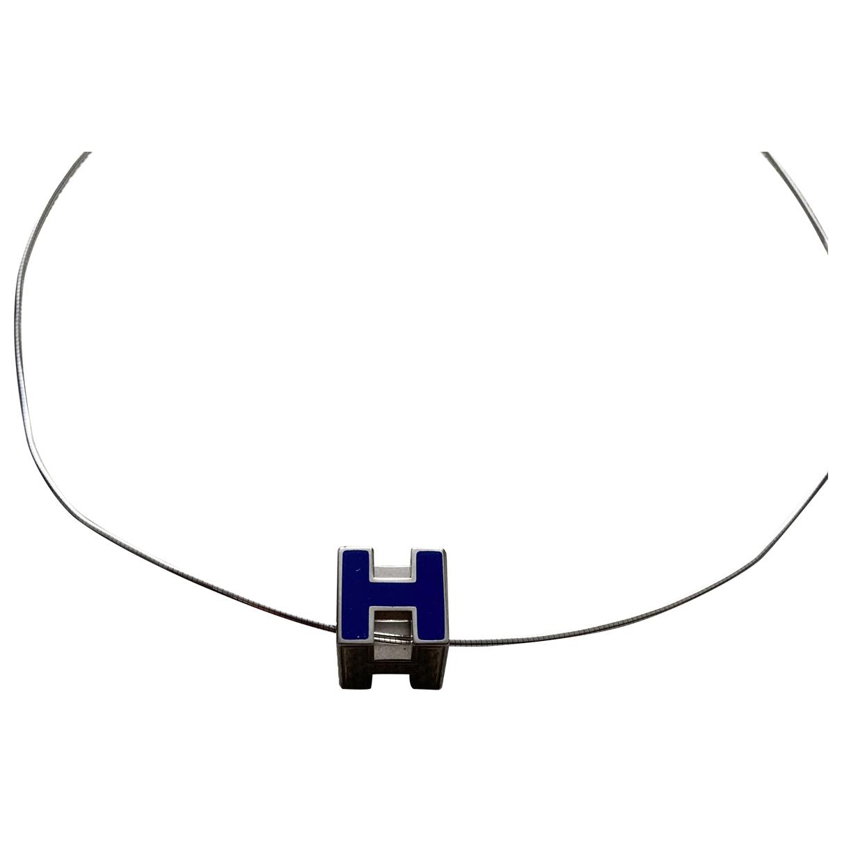 Hermes Cage dH Kette in  Blau Stahl