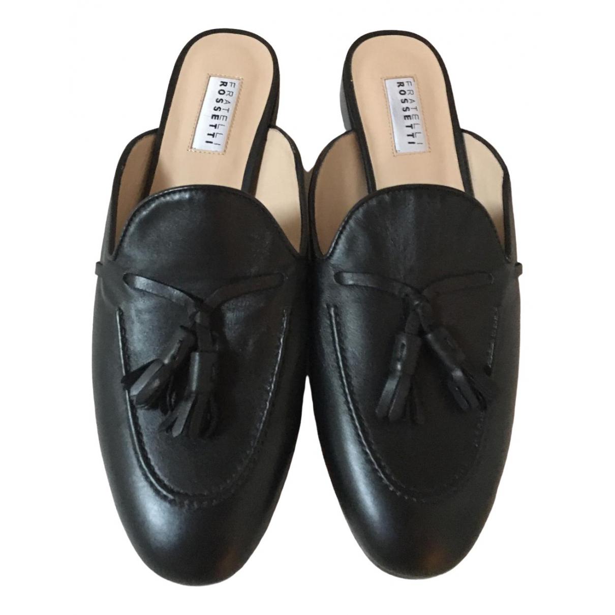 Fratelli Rossetti - Sandales   pour femme en cuir - noir