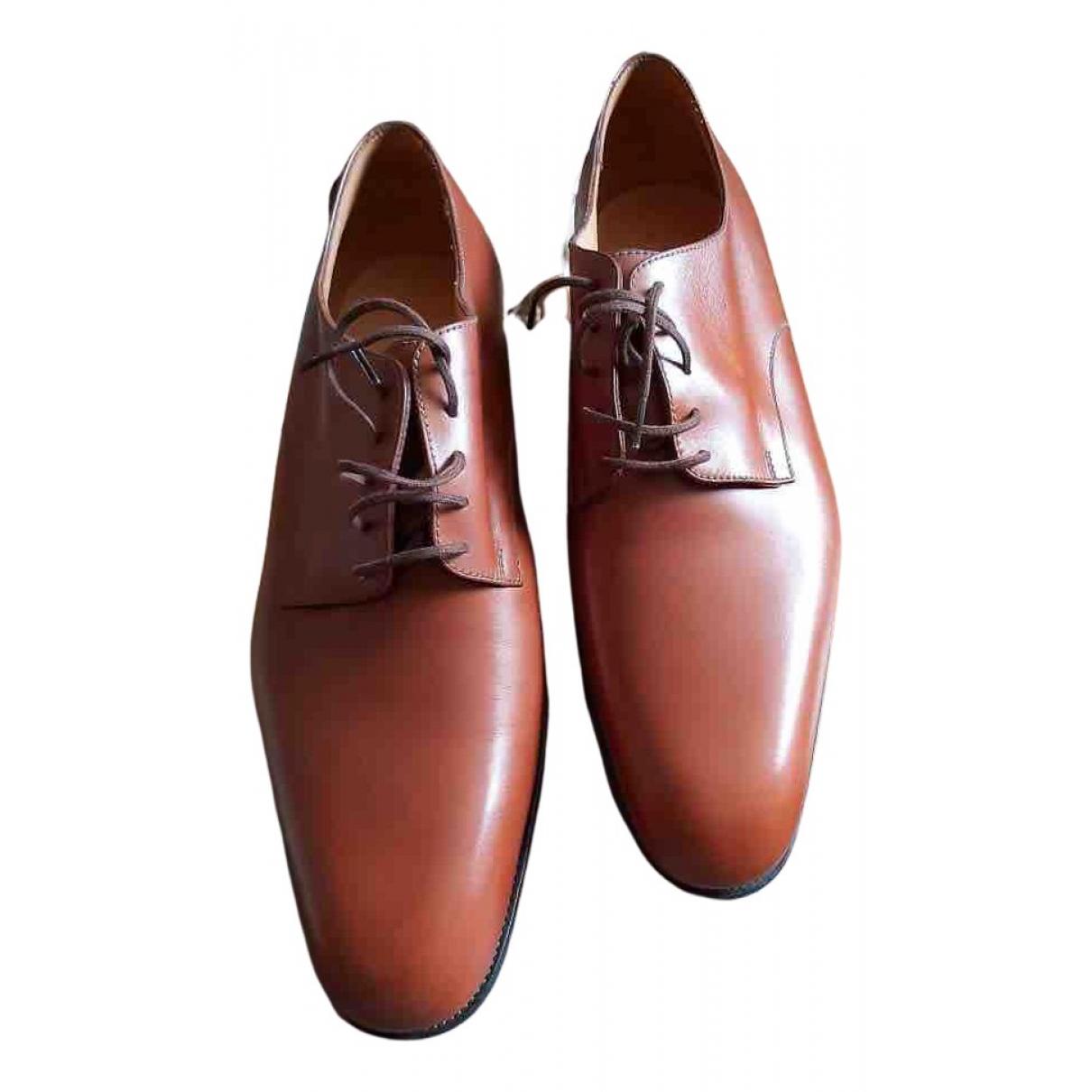 Jm Weston - Derbies   pour homme en cuir - marron