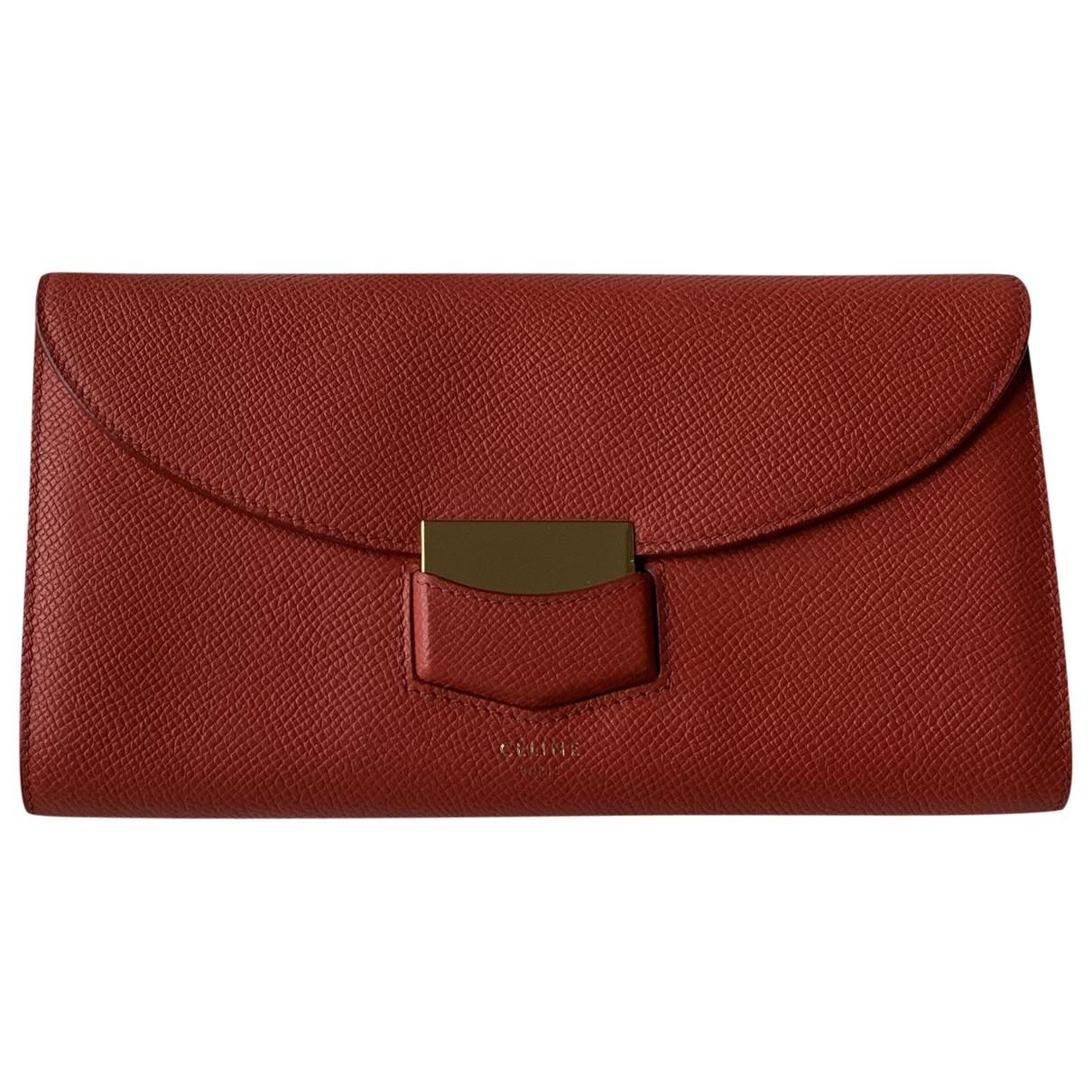 Celine \N Red Leather wallet for Women \N