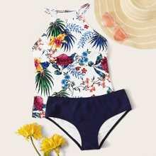Floral & Tropical Bikini Swimsuit