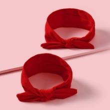 2 Stuecke Baby Kopfband mit Knoten Dekor