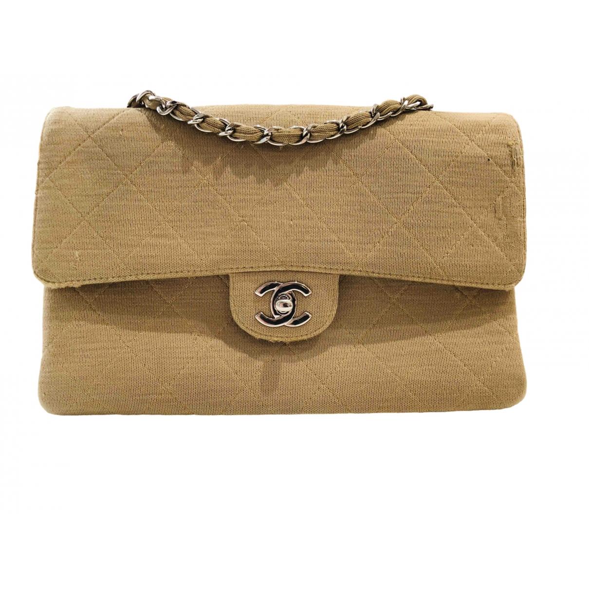 Bolsos clutch Timeless/Classique en Algodon Camel Chanel