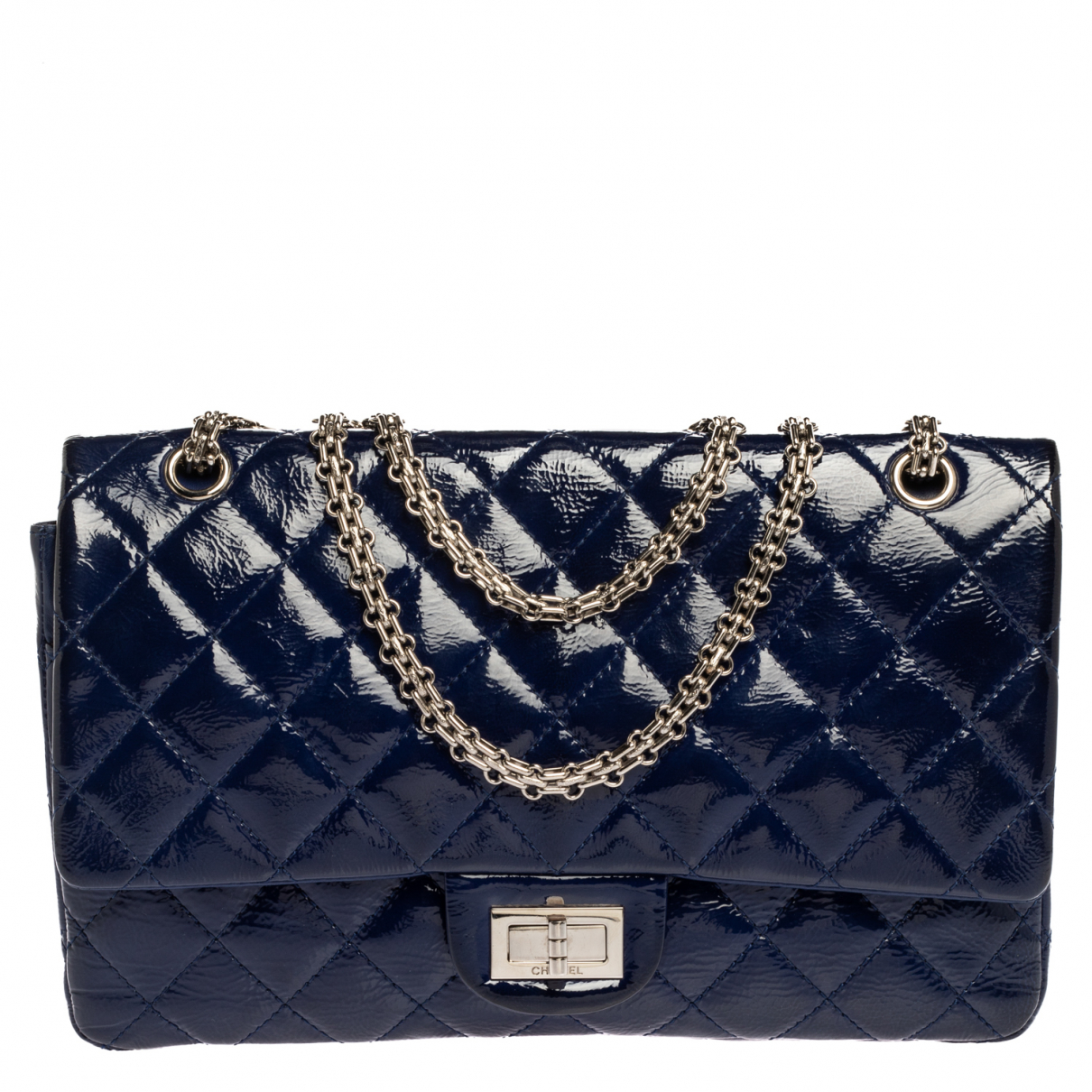 Chanel N Blue Patent leather handbag for Women N