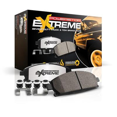 Power Stop Z36 Extreme Severe Duty Truck & Tow Brake Rear Pads with Hardware - Z36-1734