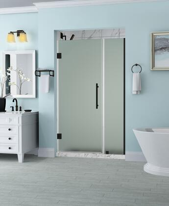 SDR965F-ORB-5230-10 Belmore 51.25 To 52.25 X 72 Frameless Hinged Shower Door With Frosted Glass In Oil Rubbed