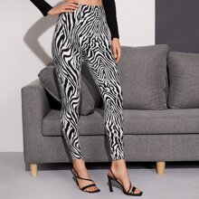 Leggings mit Zebra Streifen