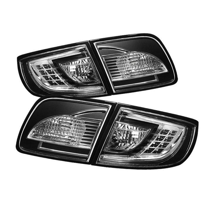 Spyder 4Dr Sedan Non Hatchback LED Black Tail Lights Mazda 3 03-08