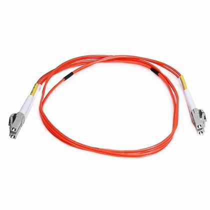 Fiber Optic Cable, OM2 LC/LC, Multi Mode, Duplex - (50/125 Type) - Orange - Monoprice® - 1m
