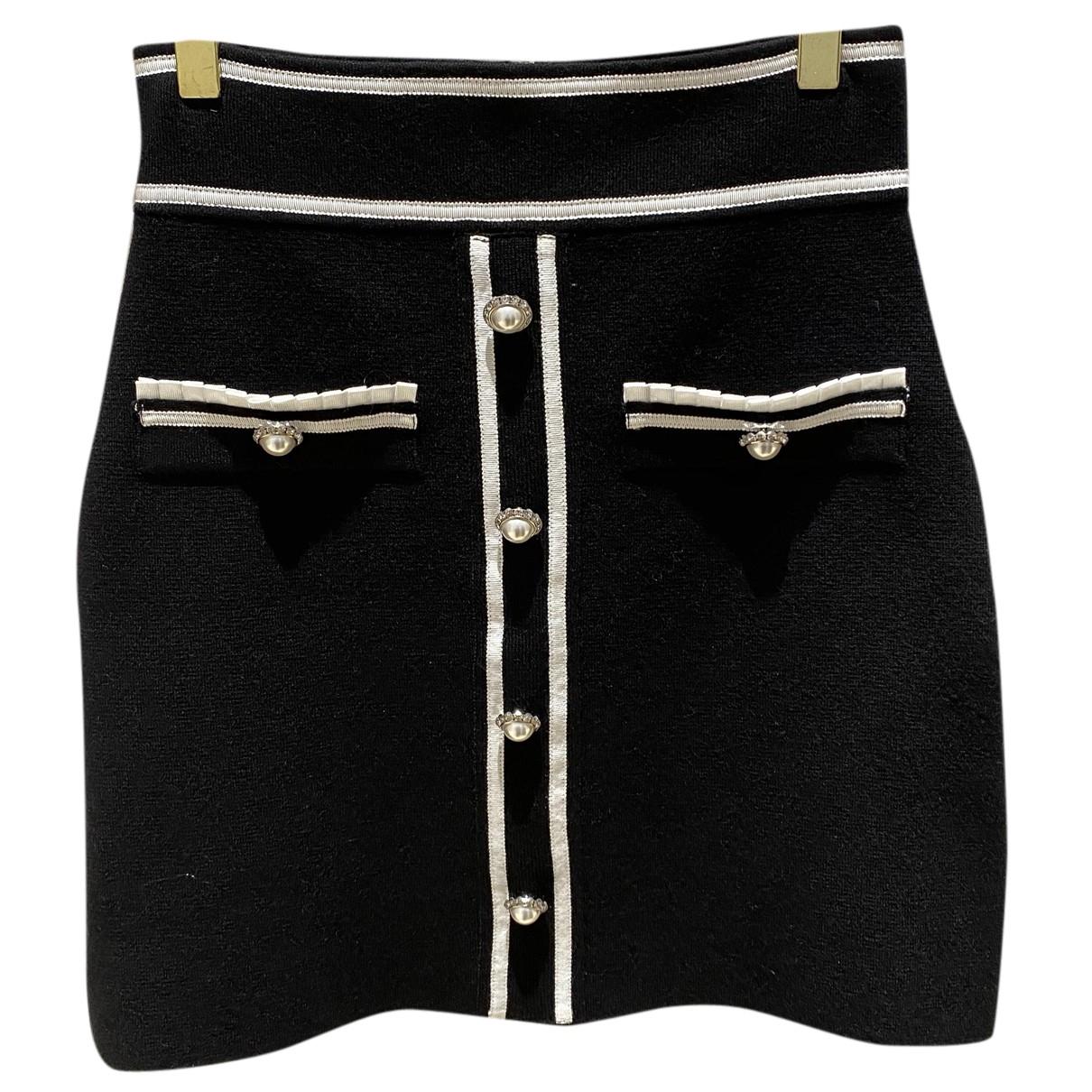 Maje N Black Cotton skirt for Women 40 FR