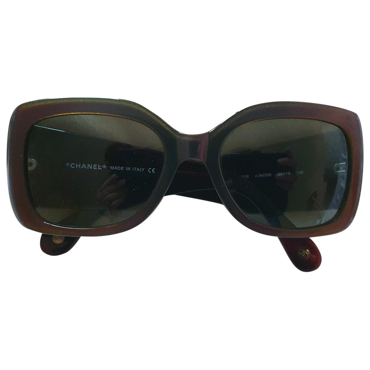 Chanel \N Sonnenbrillen in  Bordeauxrot Kunststoff
