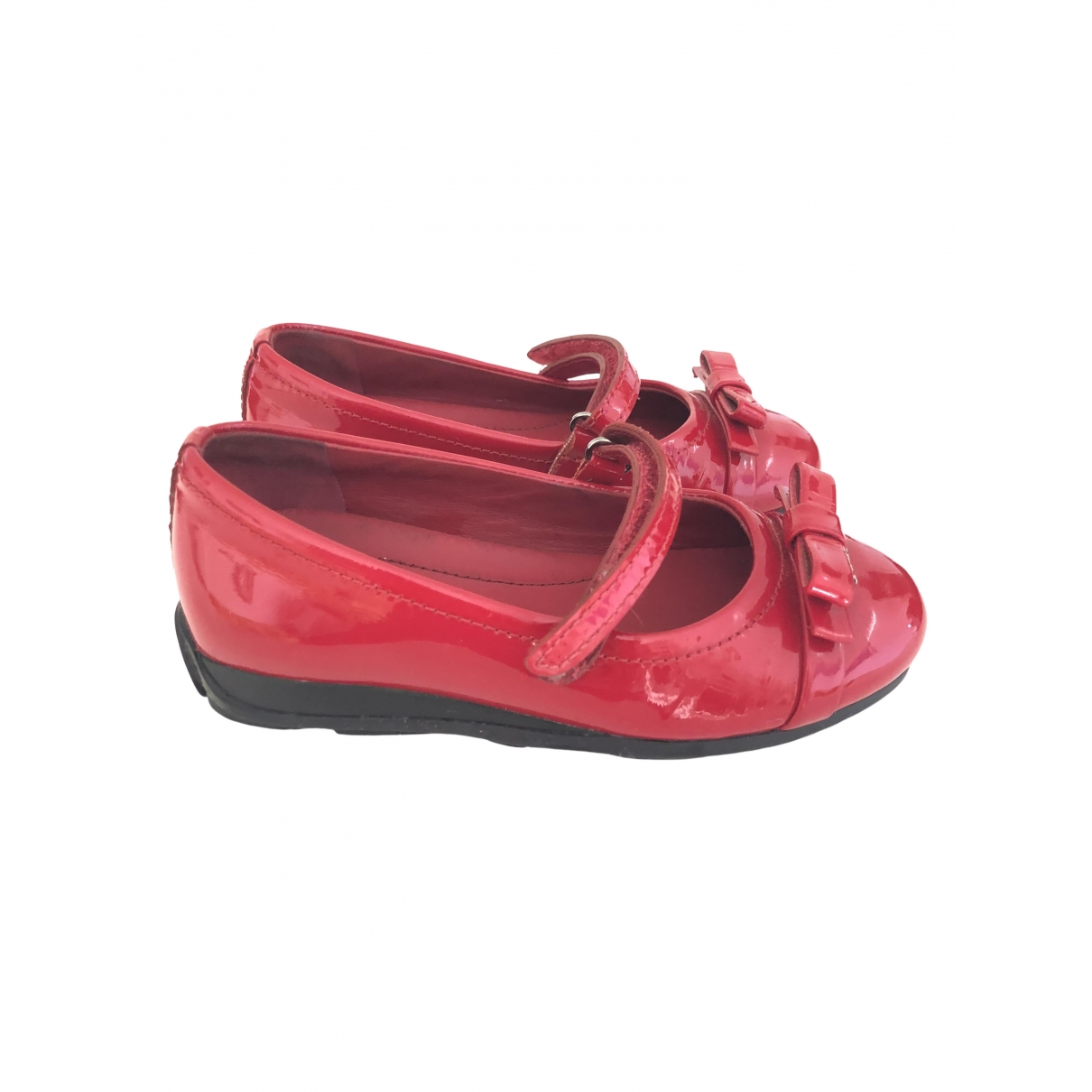 Prada \N Red Patent leather Ballet flats for Kids 24 EU