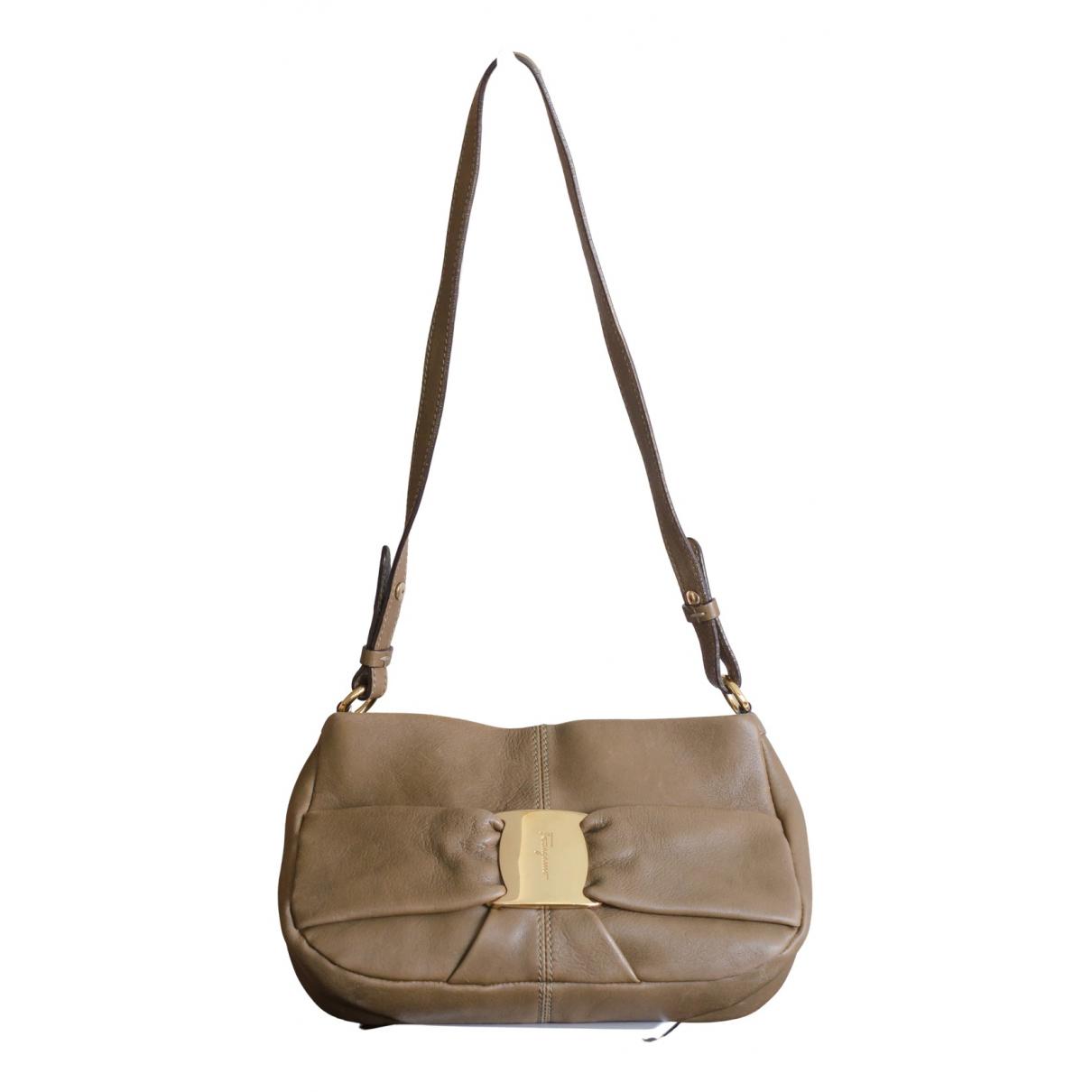Salvatore Ferragamo Vara Brown Leather handbag for Women N