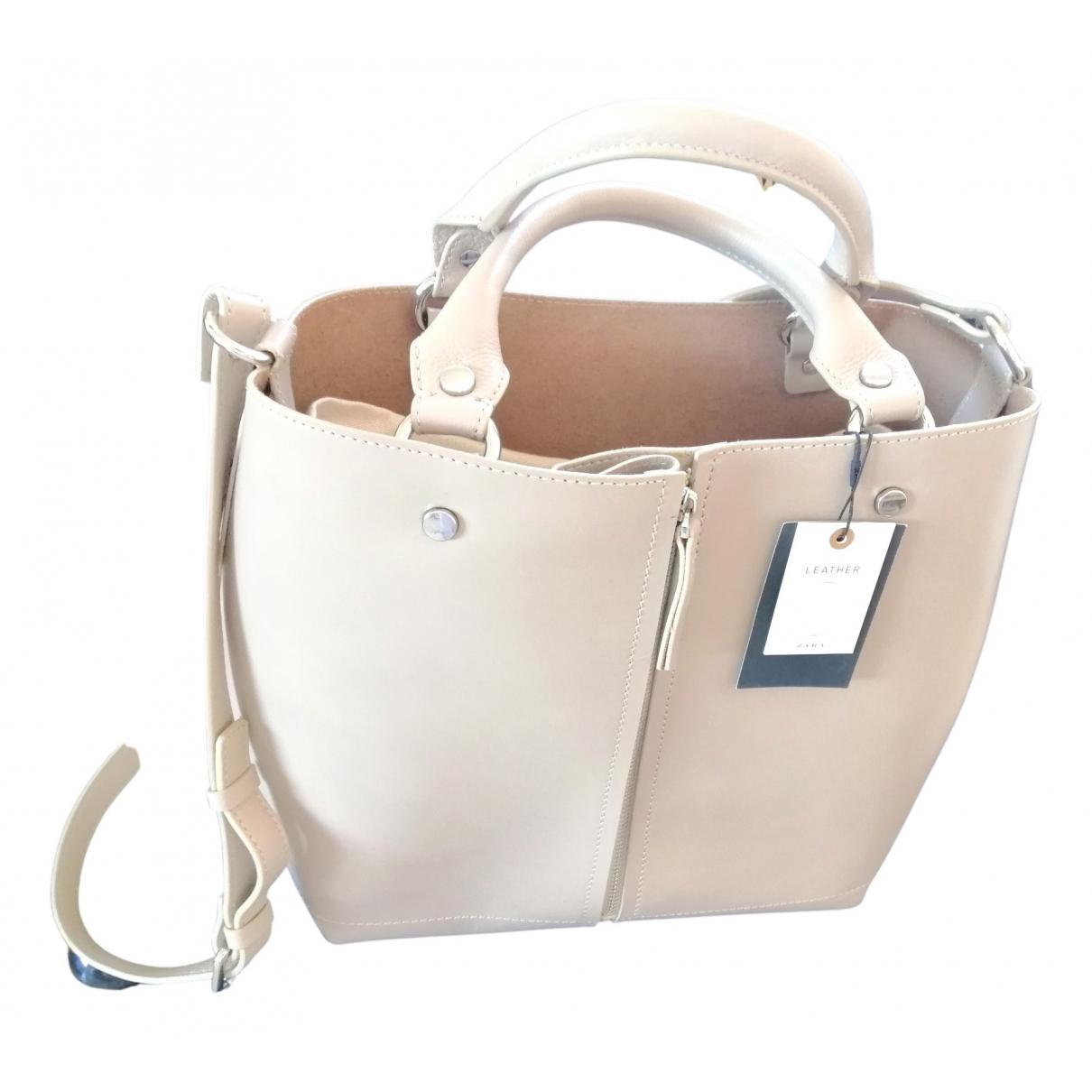 Zara N Beige Leather handbag for Women N
