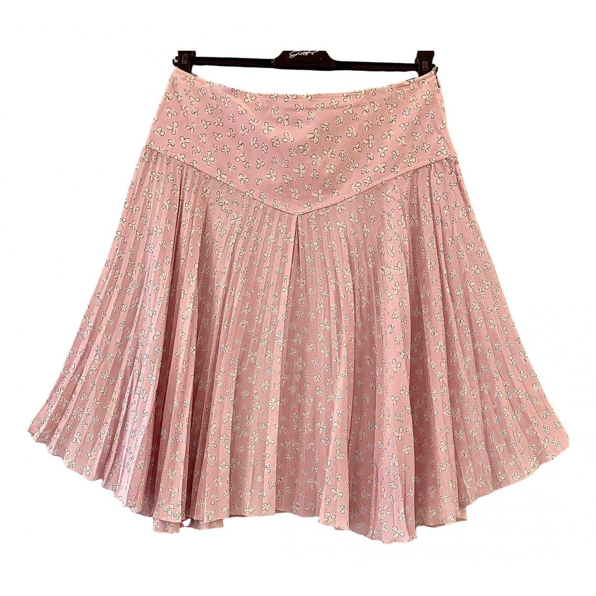 Valentino Garavani \N Pink Silk skirt for Women 44 IT
