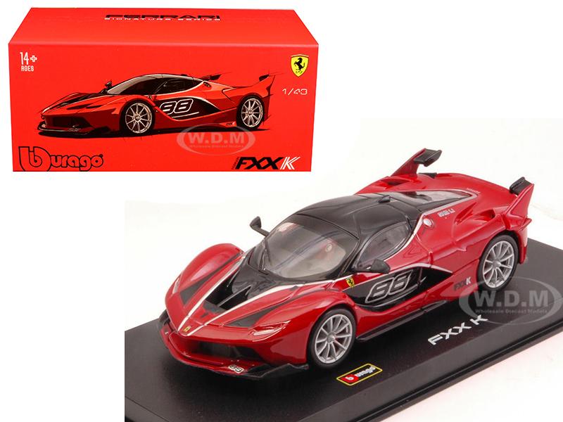 Ferrari FXX-K 88 Red Signature Series 1/43 Diecast Model Car by Bburago