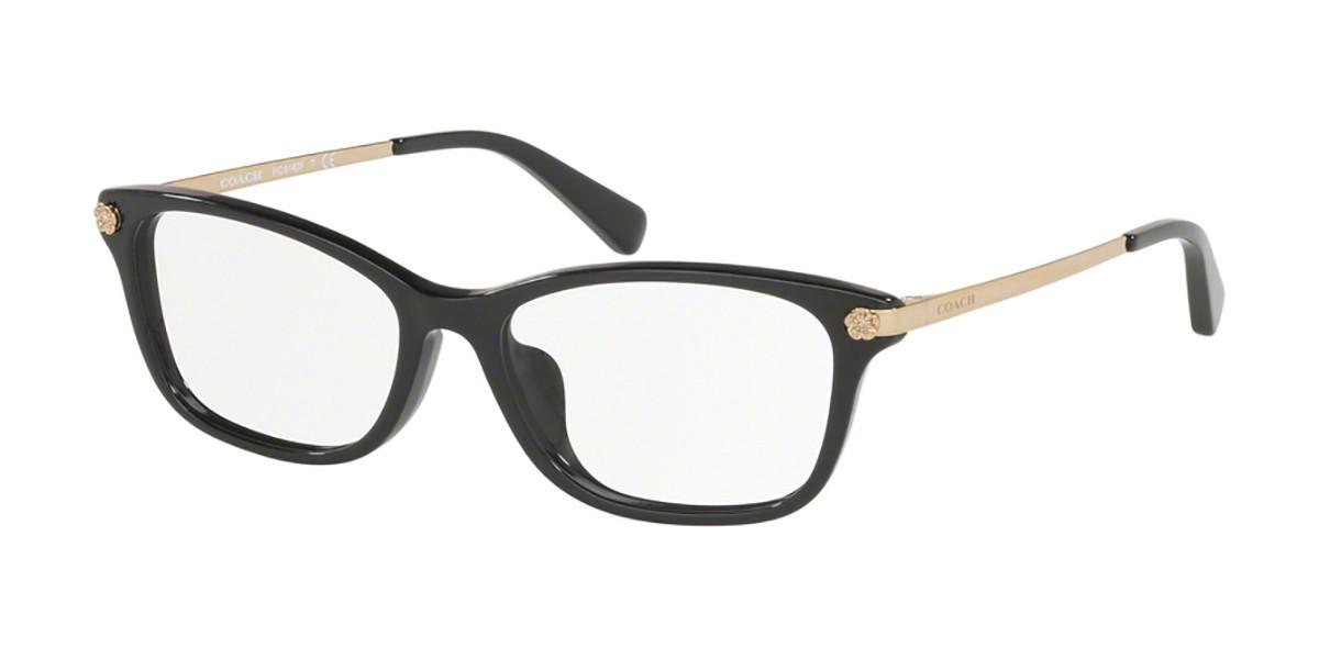 Coach HC6142F Asian Fit 5002 Women's Glasses Black Size 53 - Free Lenses - HSA/FSA Insurance - Blue Light Block Available