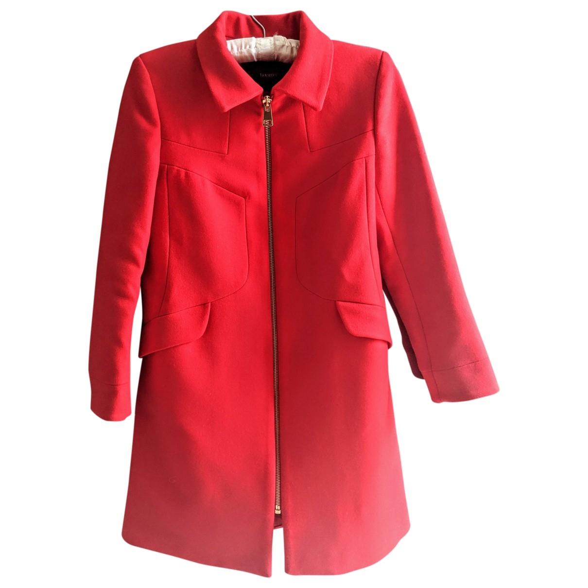 Tara Jarmon \N Red Wool coat for Women 38 FR