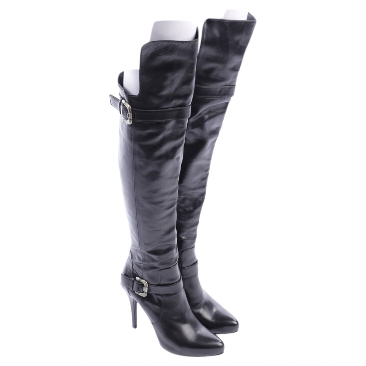 Cesare Paciotti - Bottes   pour femme en cuir - noir