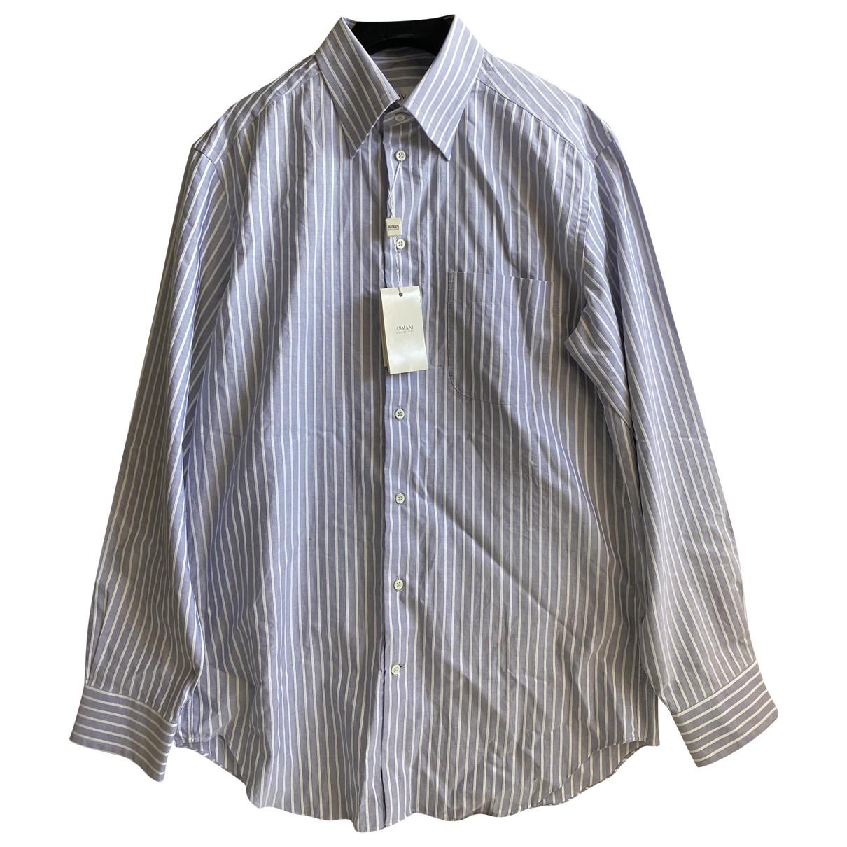 Armani Collezioni - Chemises   pour homme en coton - multicolore