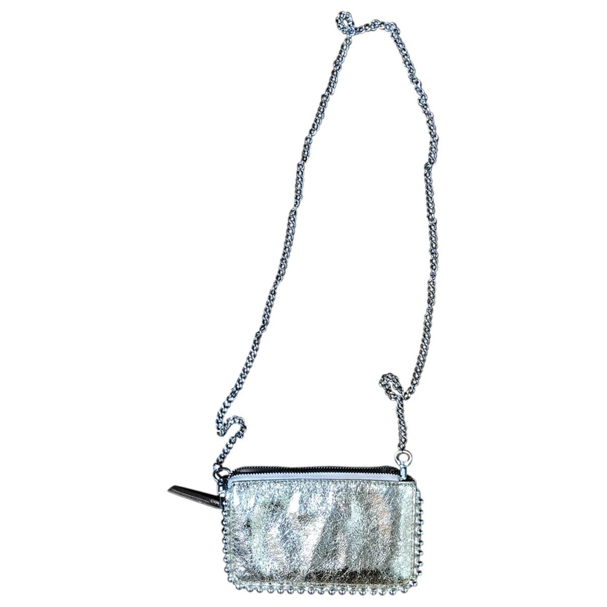 Zara \N Clutch in  Metallic Polyester