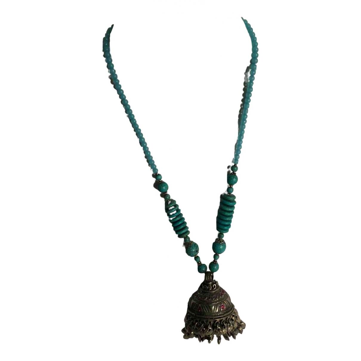 - Collier Motifs Ethniques pour femme en perles - bleu