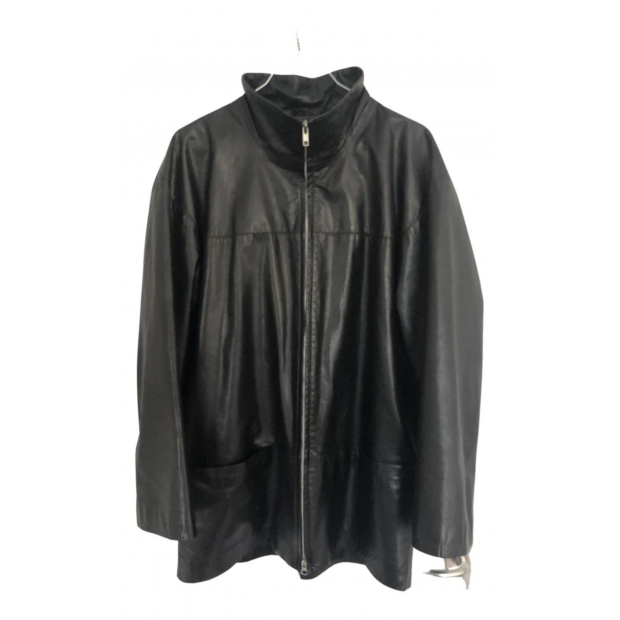 Utzon - Veste   pour femme en cuir - noir