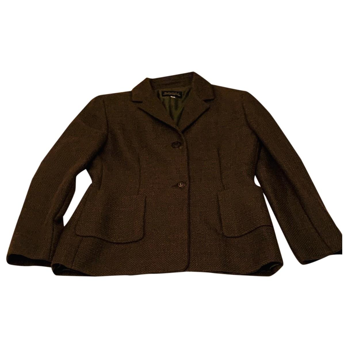 Boggi \N Green Wool jacket for Women 42 IT