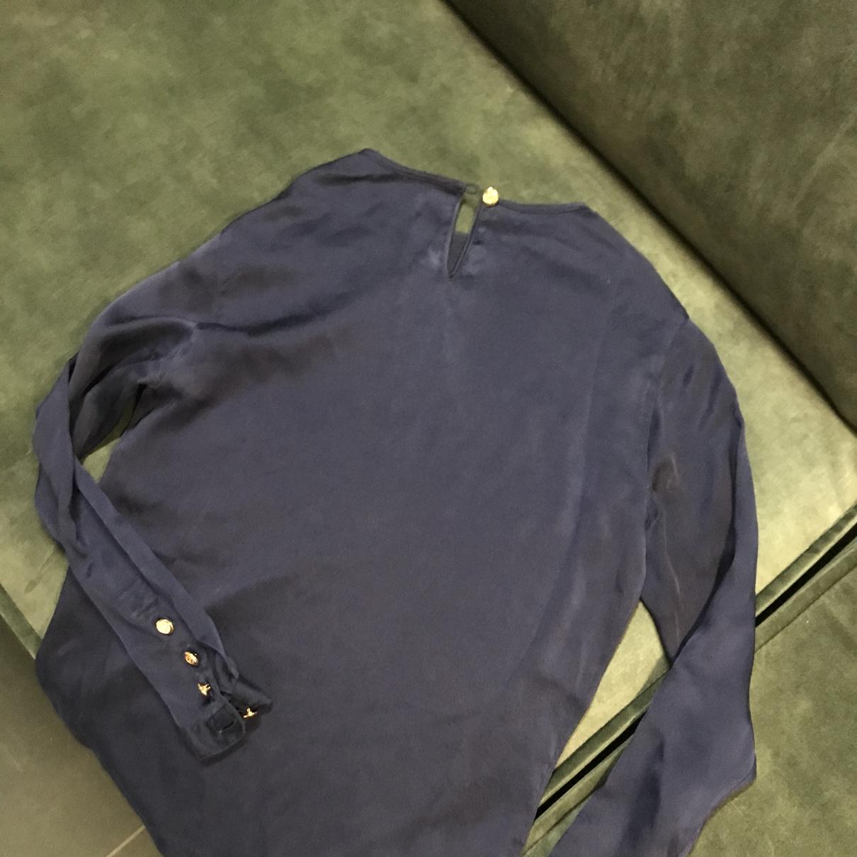 Chanel - Top   pour femme en soie - bleu