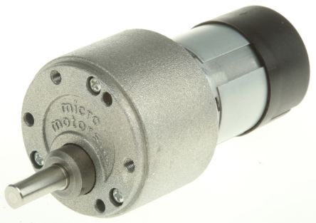 Micromotors , 12 V dc, 1 Nm DC Geared Motor, Output Speed 9 rpm