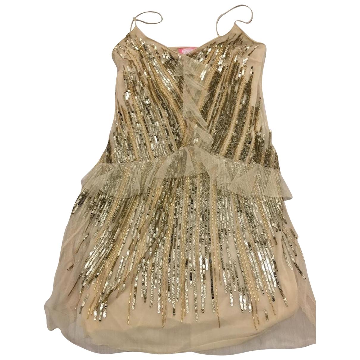 Blumarine \N Kleid in  Gold Mit Pailletten
