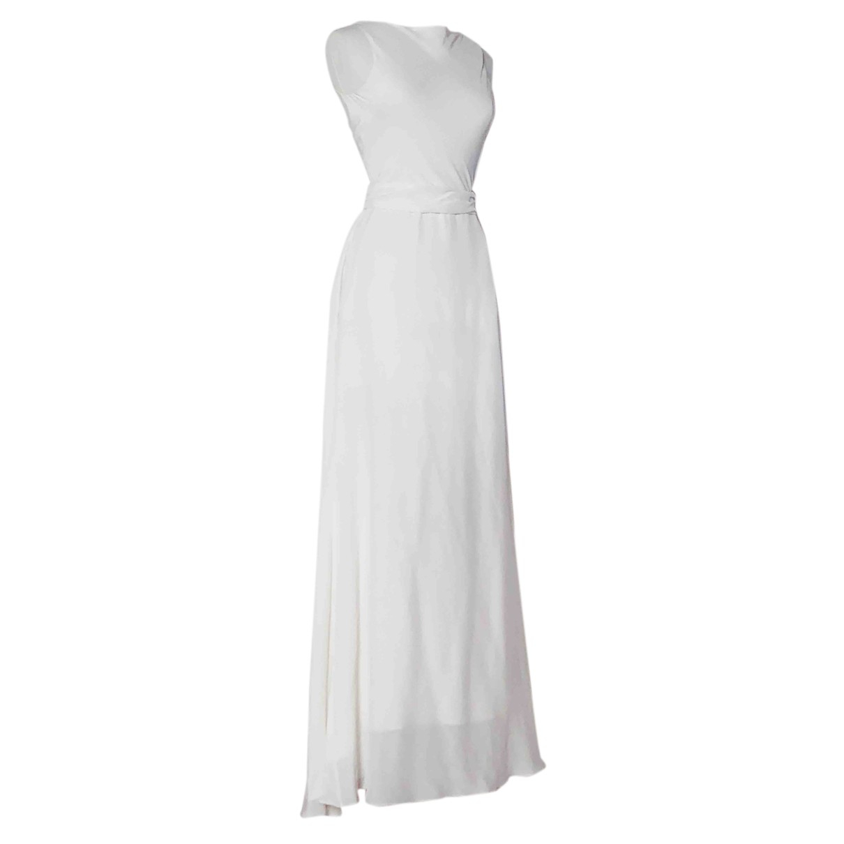 Tommy Hilfiger - Robe   pour femme en soie - ecru