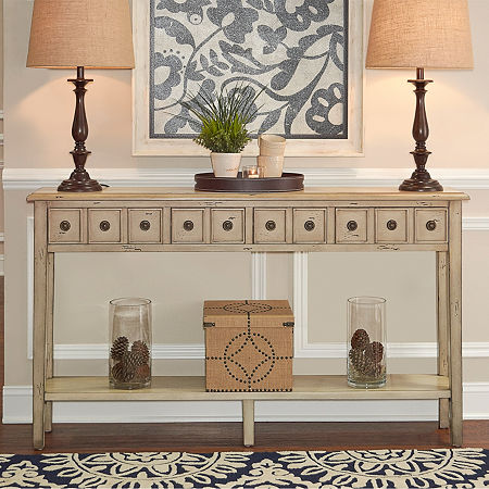Sadie Long Console, One Size , Yellow