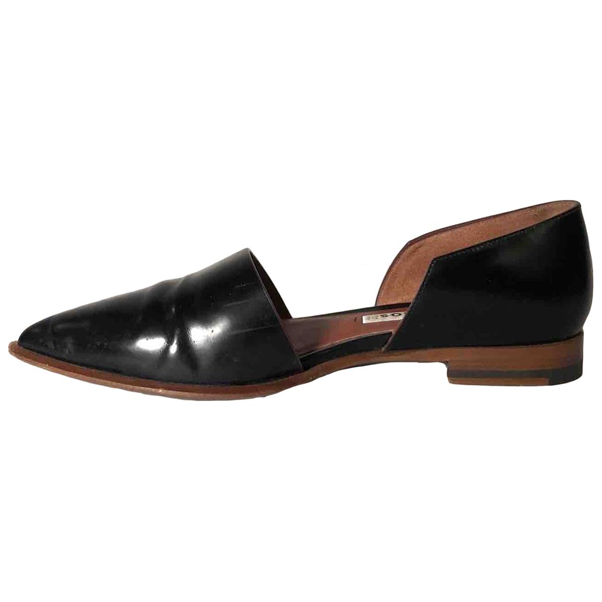 Acne Studios \N Black Leather Sandals for Women 37 EU