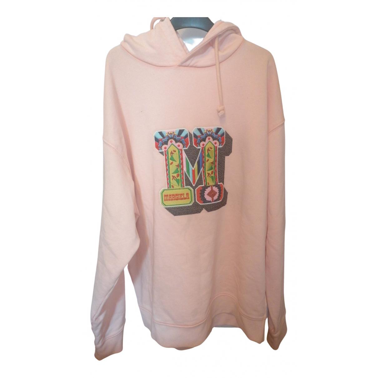 Maison Martin Margiela \N Pullover.Westen.Sweatshirts  in  Rosa Baumwolle