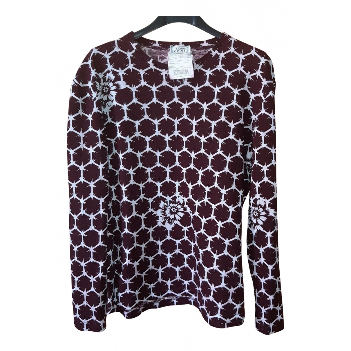 Gianni Versace \N Burgundy T-shirts for Men L International