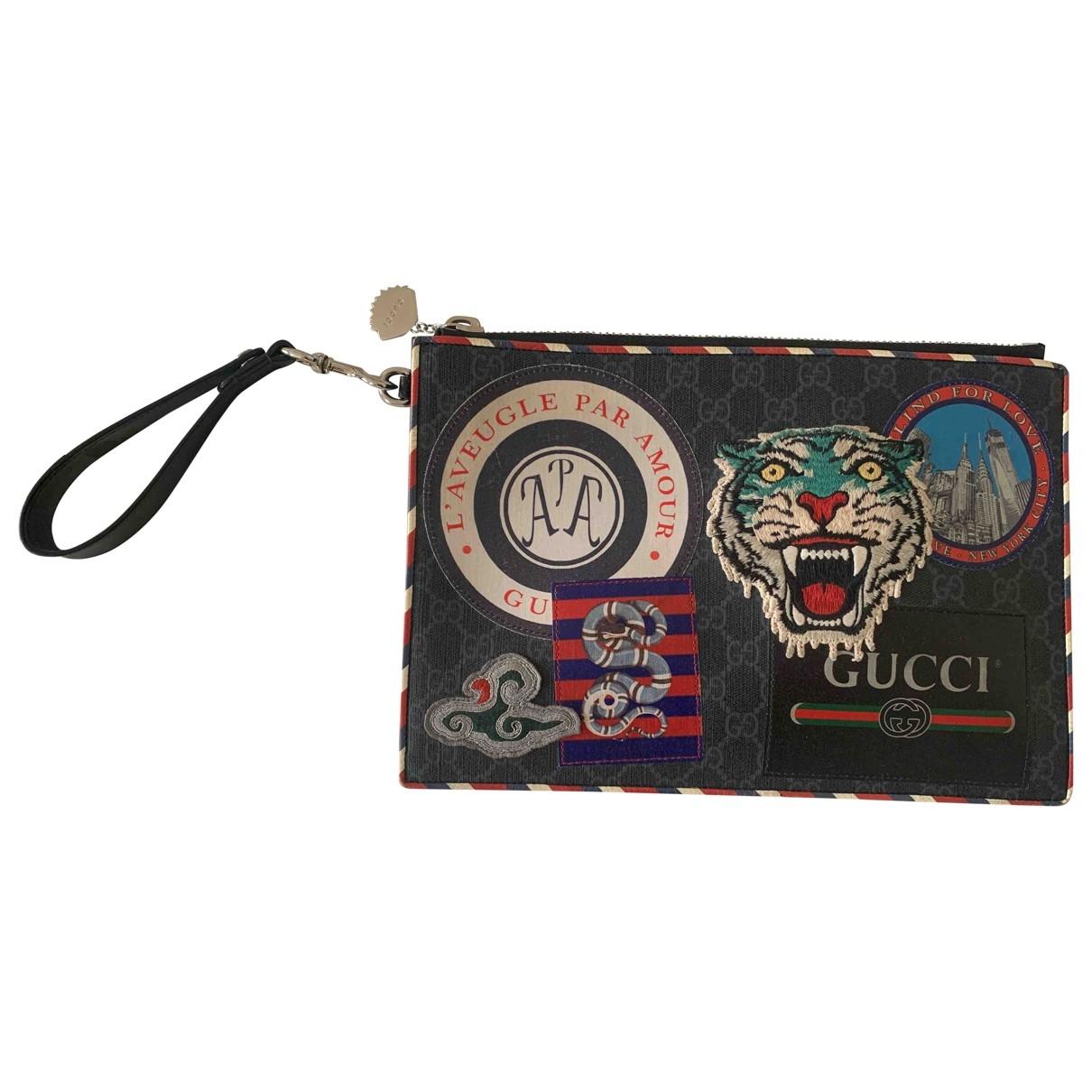 Gucci - Petite maroquinerie   pour homme en toile - anthracite