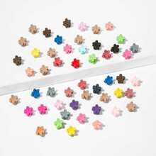 Toddler Girls Flower Shaped Claw Clip 50pcs