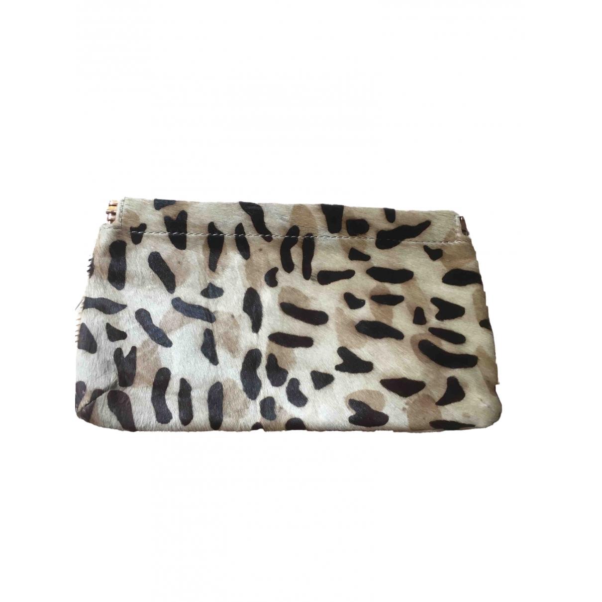 Designers Remix \N Pony-style calfskin Clutch bag for Women \N