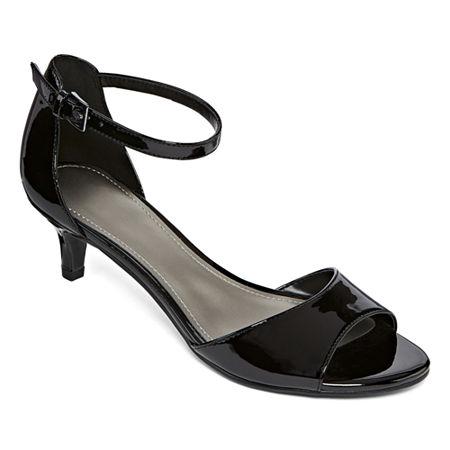 Worthington Womens Garnet Pumps Kitten Heel, 6 1/2 Medium, Black