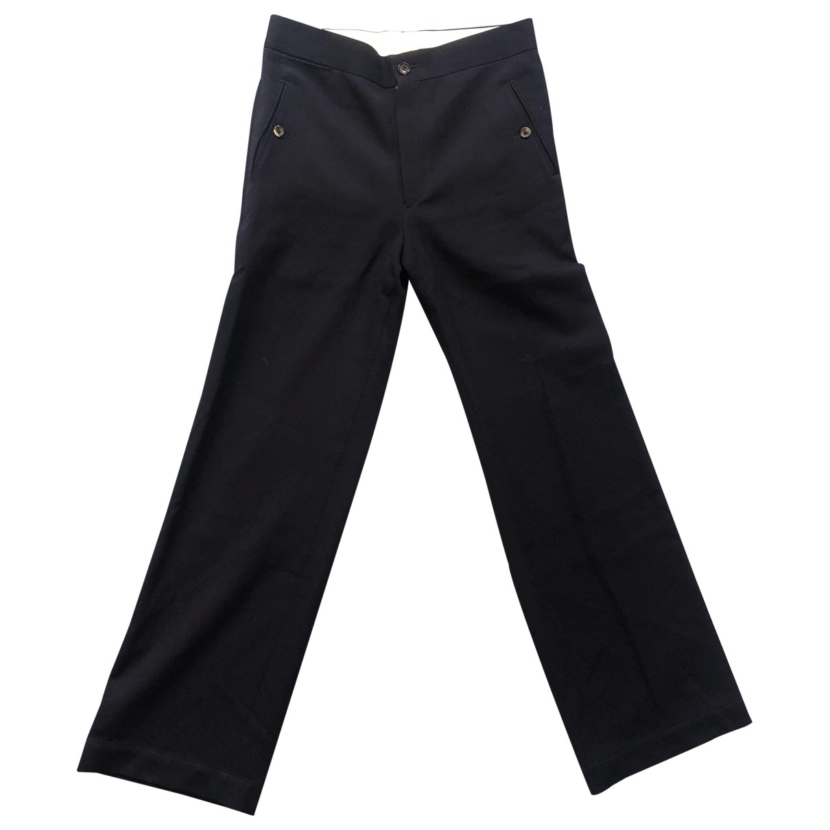 Comme Des Garcons \N Navy Wool Trousers for Women M International